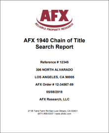 Combined E-lien AUL Report and 50 year Chain of Title
