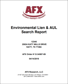 Environmental Lien and AUL Report
